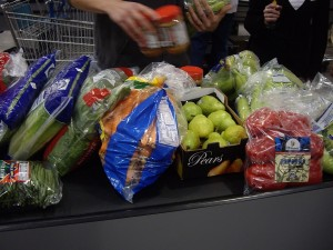 Photo of the conveyor belt with my purchases