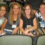 Robyn, her sister, and her cousins at BYU Education Week