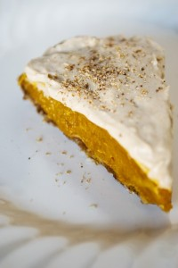 raw pumpkin pie with cinnamon cashew cream (648 x 968)