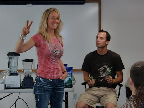 Robyn teaching her class