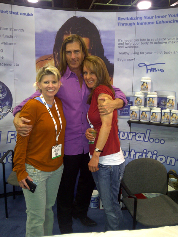Fabio with Kristin and Robyn