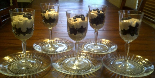Mothers Day Blueberry Dessert Serving example