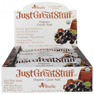 Product photo - Box of Cacao Acai Bars