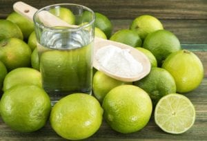Photo of limes and baking soda from
