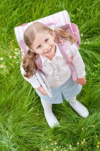 little girl leaving home