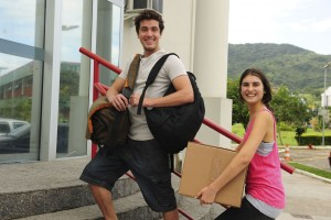 young adults heading to college