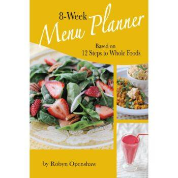 8 Week Menu Planner book cover