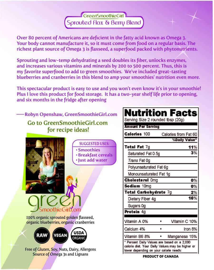 See ingredients and Nutrition Facts in the Product Description below