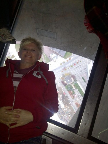 kristin in the CN Tower