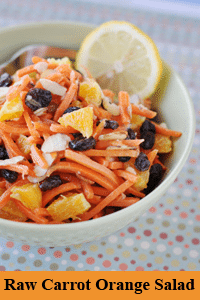 Photo of Raw Carrot Orange Yummy Salad recipe