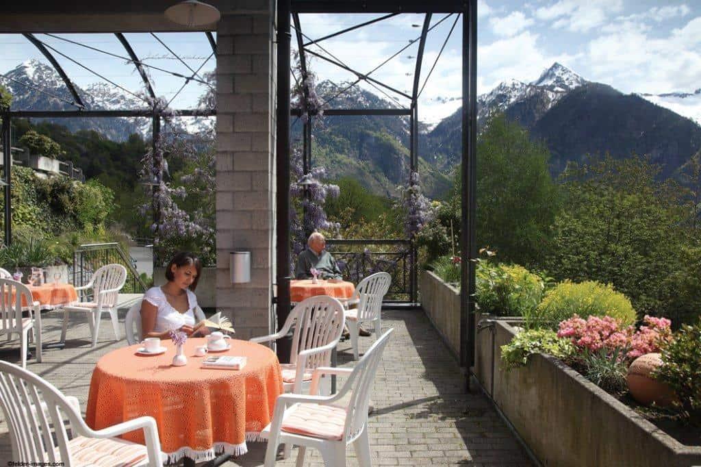 The view from Paracelsus al Ronc patio