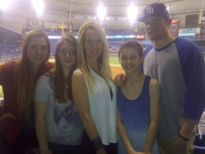 robyn and family at game