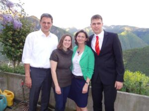 Dr. Petra, her husband and son Ulf and Freddy, and GSG Coach Amanda