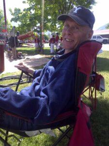 Robyn's Dad at Tennyson's Baseball Game