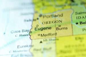 eugene oregon map