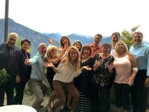 Group of happy people celebrating the end of the liver detox with Robyn