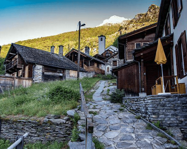 A village on one of our hikes