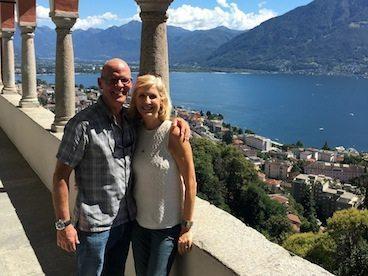 Happy couple at Paracelsus al Ronc