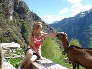 Robyn with goat