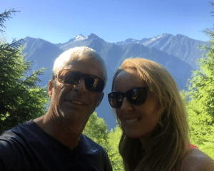 Tom O'bryan and Robyn Openshaw Hiking in Switzerland
