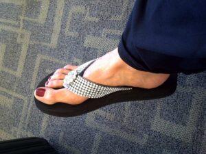 blingy flip flops