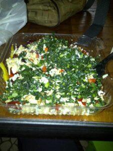 Kale Quinoa Salad in Phoenix Airport