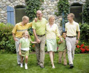 The Jorgenson family, happy and healthy.