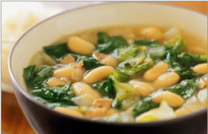 beans and green soup