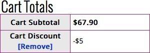 cart totals discount