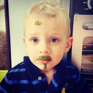 Healthy Zander Jensen enjoying a greensmoothie.