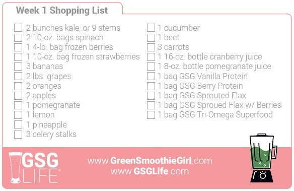 Week 1 Shopping List
