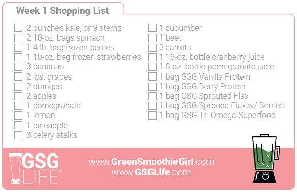 Week 1 Shopping List