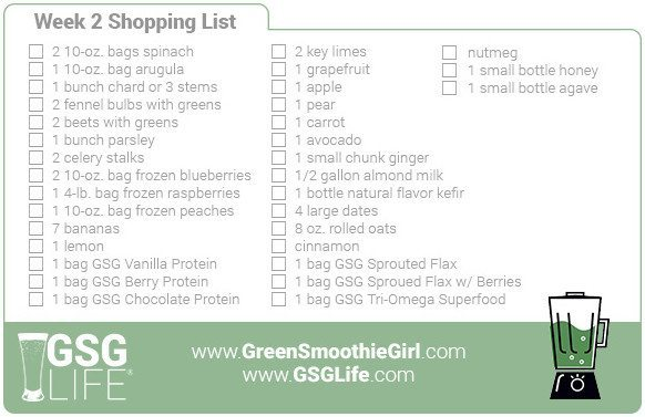 Week 2 Shopping List