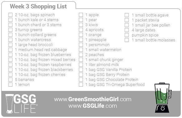 Week 3 Shopping List