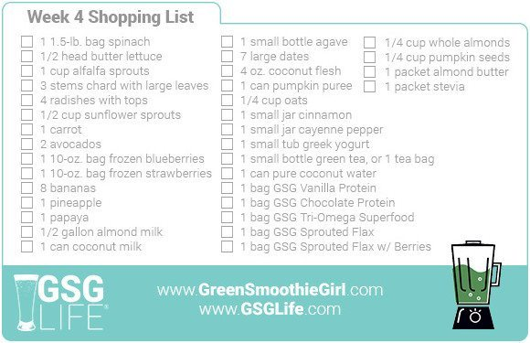Week 4 Shopping List