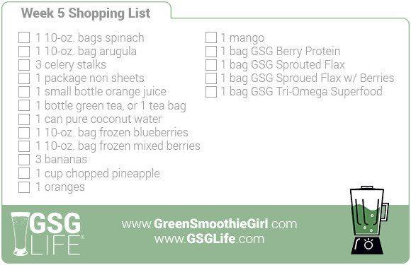 Week 5 Shopping List