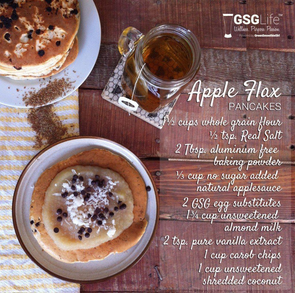 apple flax pancakes