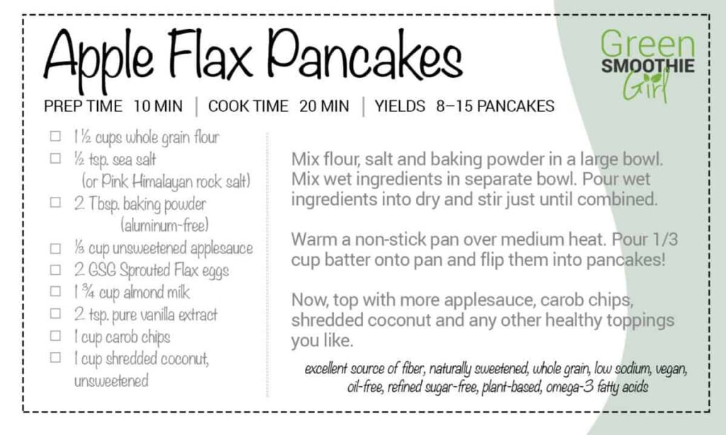 GSG Recipe apple flax pancakes
