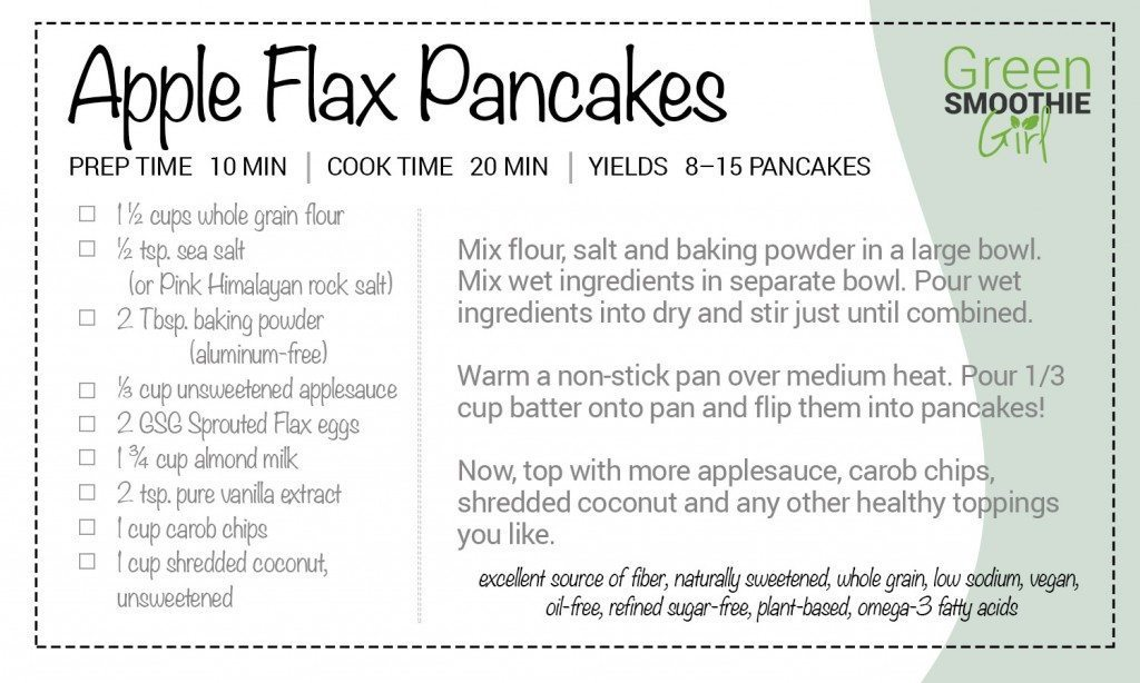 GSG Recipe apple flax pancakes