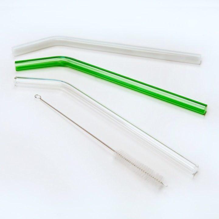 Glass Green Smoothie Straws