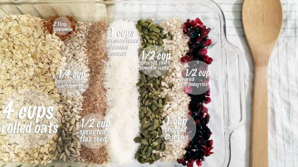 Robyn's Wholesome Granola dry ingredients