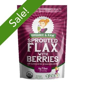 Activated Charcoal and GSG Sprouted Flax with Berries to take your green smoothie to the next level!