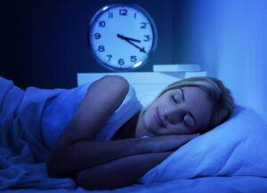 Woman sleeping for optimal health