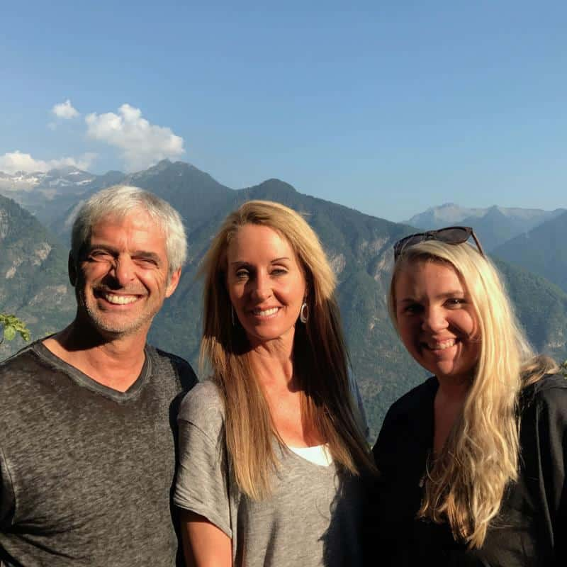 Robyn with Dr. Tom O'Bryan of TheDr.Com and Katie of Wellness Mama, in the Swiss Alps.