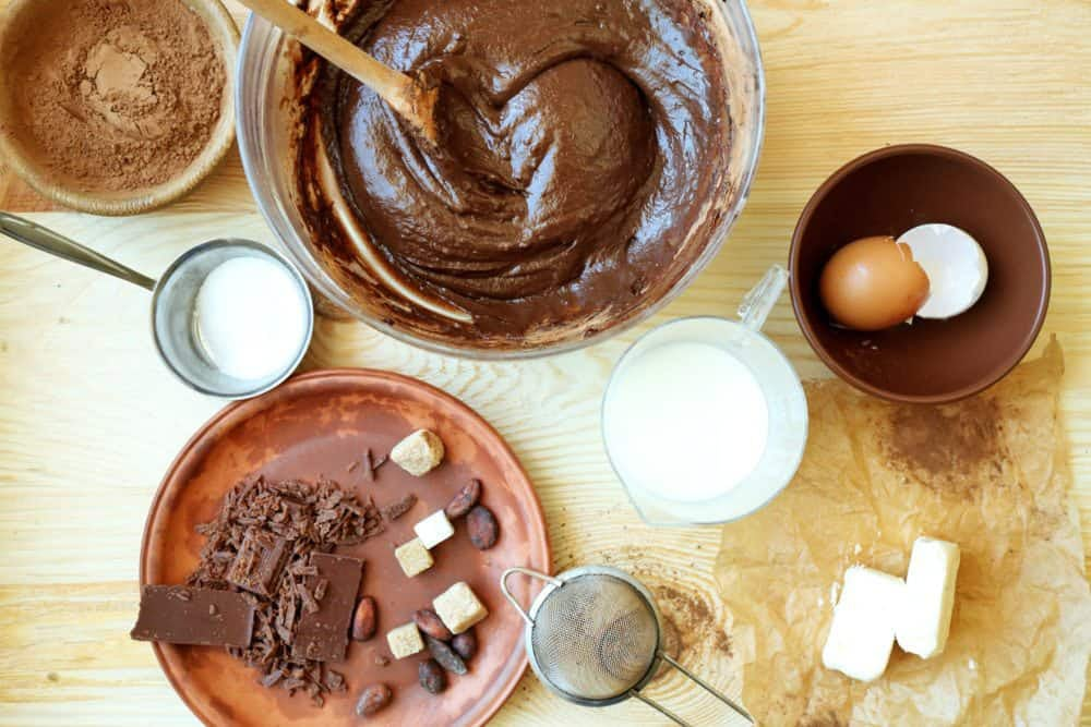 healthy chocolate baking ingredients for treat recipe