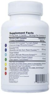 Bosmeric-SR ingredients and supplement facts
