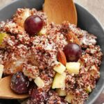 "Quinoa salad with grapes, apples from ""Sprouted Quinoa Salad with Dressing"" recipe by Green Smoothie Girl"