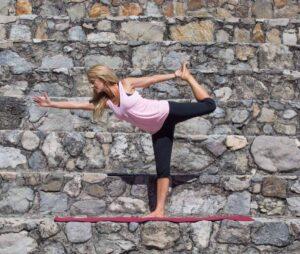 Robyn doing yoga