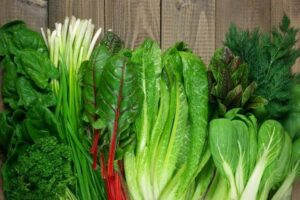 """Photo of leafy green vegetables from """"Food Combination Theory"""" by Green Smoothie Girl"""