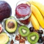 "Photo of fruit surrounding pink smoothie with soft measuring tape entwined from ""{VIDEO} How to Change Your Weight ""Set Point"" Forever"" by Green Smoothie Girl"